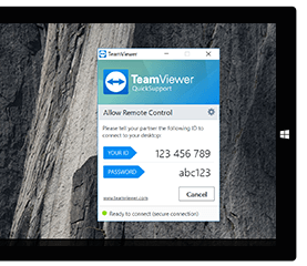 Use QuickSupport to get instant remote support without installation.