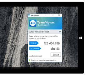 Nutzen Sie TeamViewer QuickSupport, um schnell und einfach eine Fernsteuerungs-Sitzung ohne Installation aufzubauen.