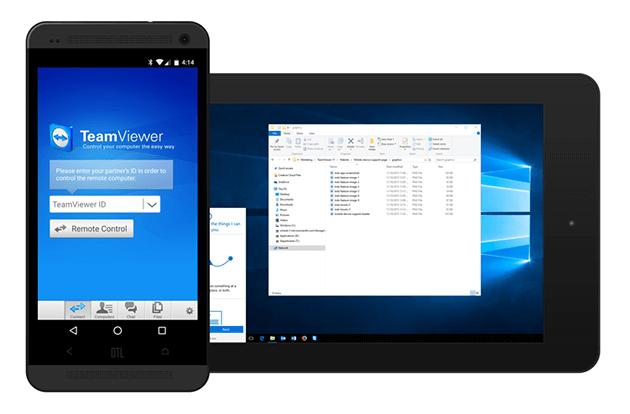 Use TeamViewer para conexões remotas externas com Android.
