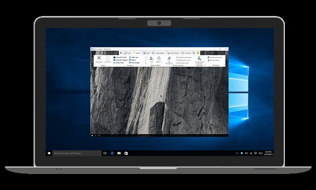 Utilizaţi TeamViewer pentru conexiuni la distanţă din şi spre exterior.