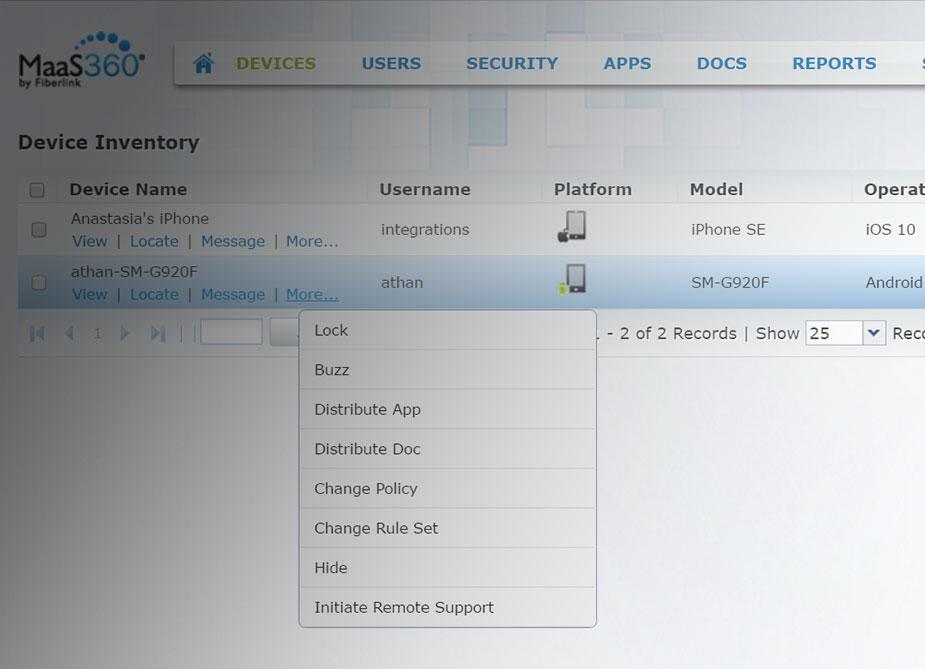 IBM MaaS360上で有効なTeamViewer