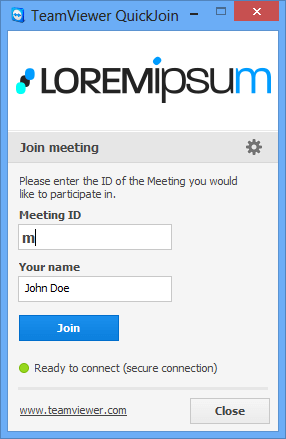 Create your own customized TeamViewer QuickJoin module.