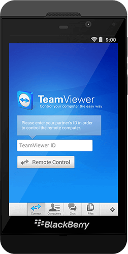 Use TeamViewer for outgoing remote connections with BlackBerry.