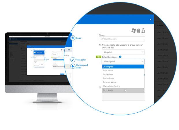 Настройка автоматической службы назначения задач в консоли управления TeamViewer
