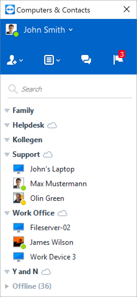 Connect to your contacts and computers with a single click.