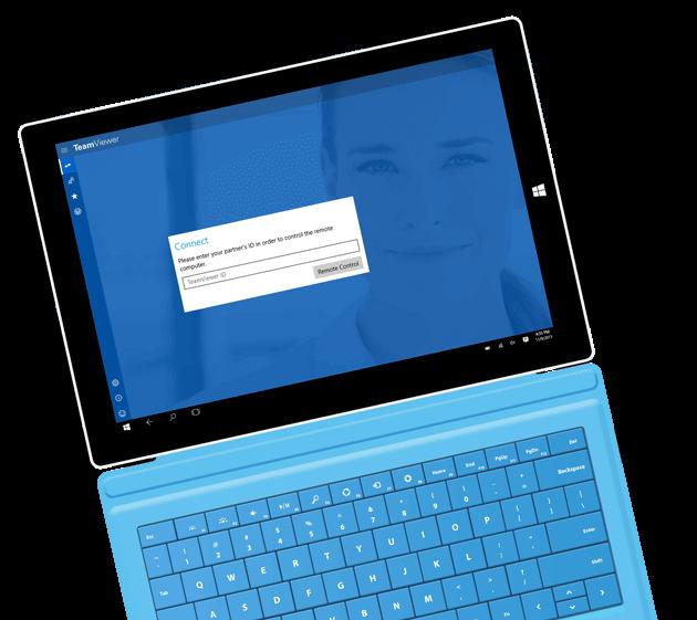 Nutzen Sie TeamViewer für ausgehende Verbindungen mit der Windows App.