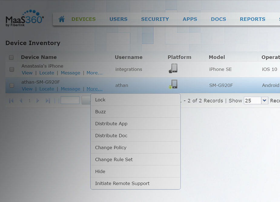 TeamViewer activé sur IBM MaaS360