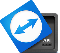 With the TeamViewer API you can integrate TeamViewer functionalities into different systems and platforms.