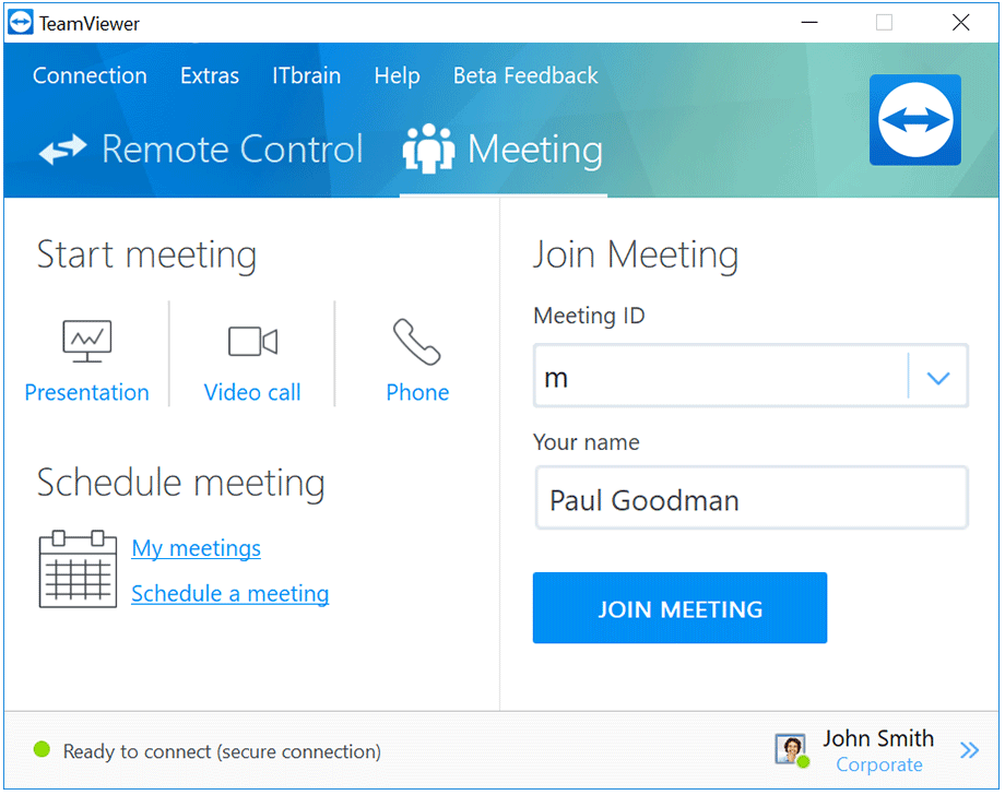 Set up online meetings or participate in online presentations.