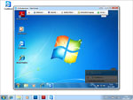 Screenshot of TeamViewer remote control window