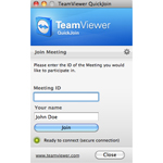 Screenshot of TeamViewer 7 QuickJoin
