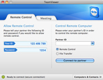 Screenshot of TeamViewer Remote Tab for Mac