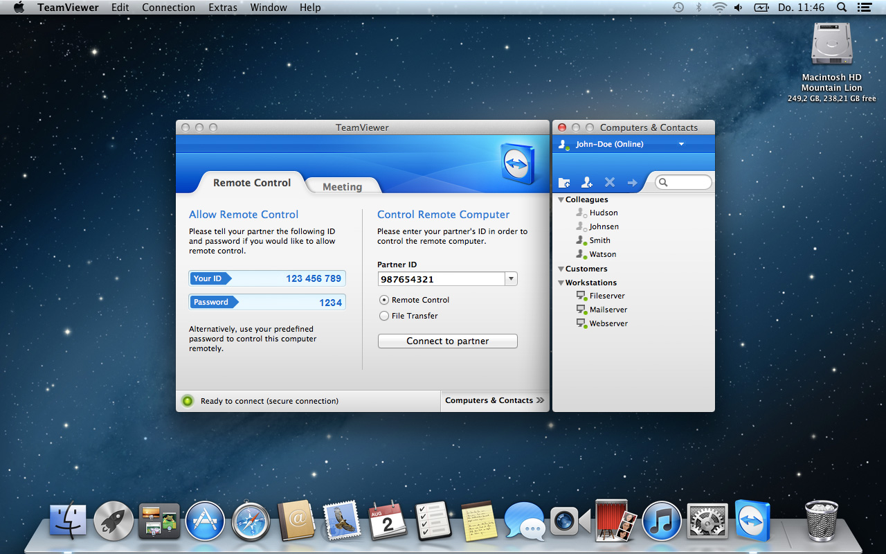 teamviewer for mac os x lion