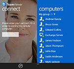 TeamViewer Windows Phone 8 app screen
