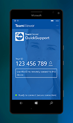 QuickSupport Windows 10 Mobile ID