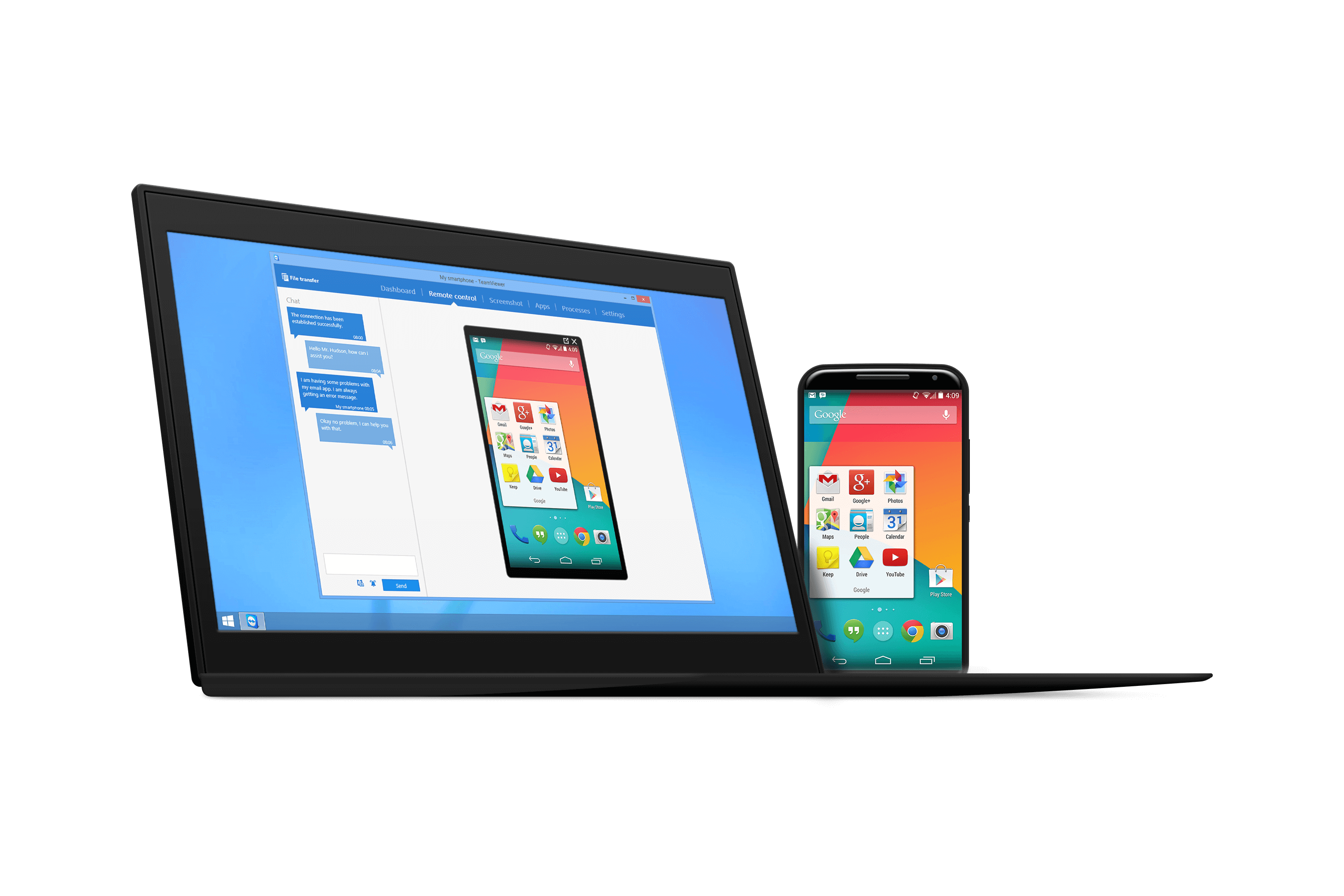 teamviewer speeds up support for android devices