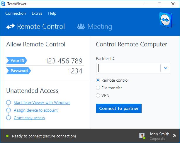 Installez l'hôte TeamViewer directement via QuickSupport