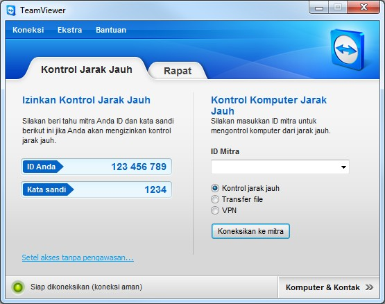 TeamViewer - Main Window