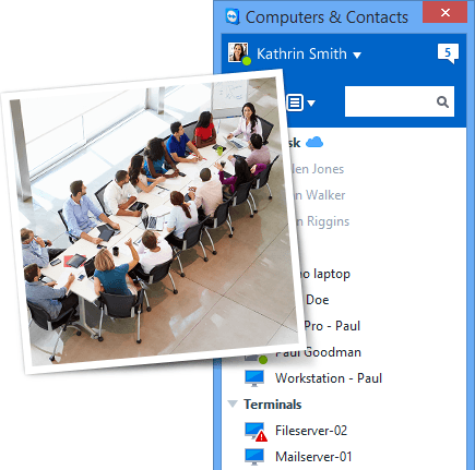 TeamViewer 10 makes finding nearby contacts easy