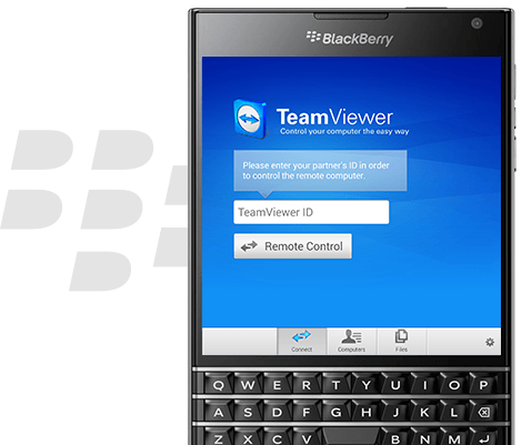 TeamViewer for Remote Control on BlackBerry