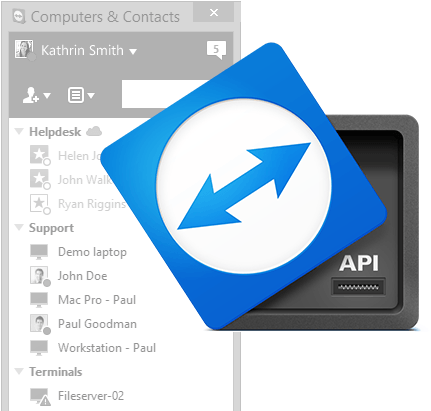 Plug your TeamViewer Computers and Contacts List into any software