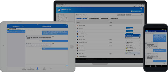 Use TeamViewer chat on any device
