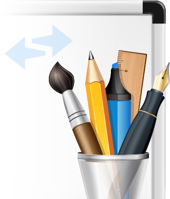 Whiteboard for remote control comes with a full set of drawing tools