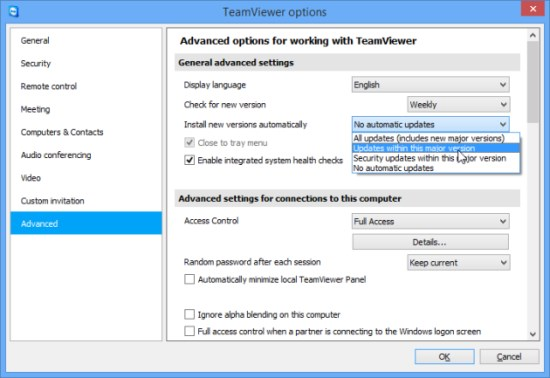 Activate the auto update of TeamViewer within the TeamViewer options.