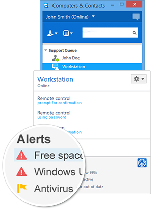 ITbrain™ integrated in the TeamViewer Management Console