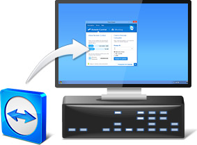 Computer with TeamViewer installed
