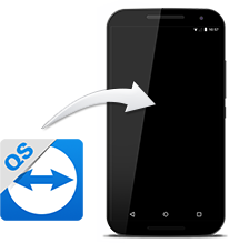 Install TeamViewer QuickSupport on mobile devices