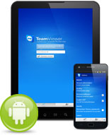Samsung Tablet and Galaxy S2 mobile device with Android app and Android icon