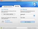 Screenshot of TeamViewer 7 Meeting Tab