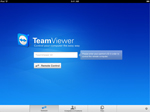Screenshot of TeamViewer app startscreen in landscape mode