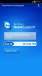 Screenshot of TeamViewer QuickSupport startscreen