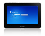 Screenshot of TeamViewer QuickSupport on Samsung Galaxy Tab