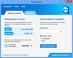 Main window remote control of TeamViewer 8