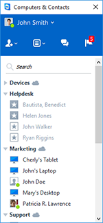 TeamViewer Computers & Contacts Screenshot