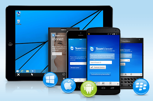Picture of TeamViewer mobile apps