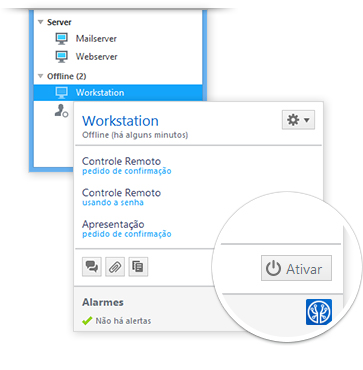 Wake-on-LAN com TeamViewer