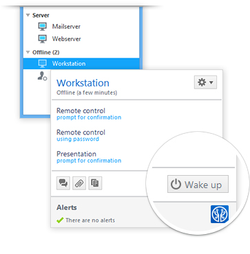 Wake-on-LAN với TeamViewer