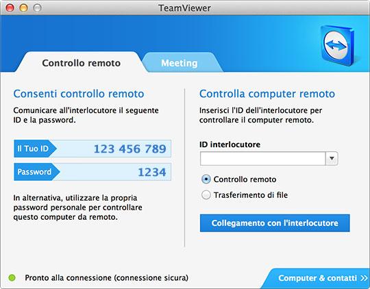 TeamViewer 7 per Mac
