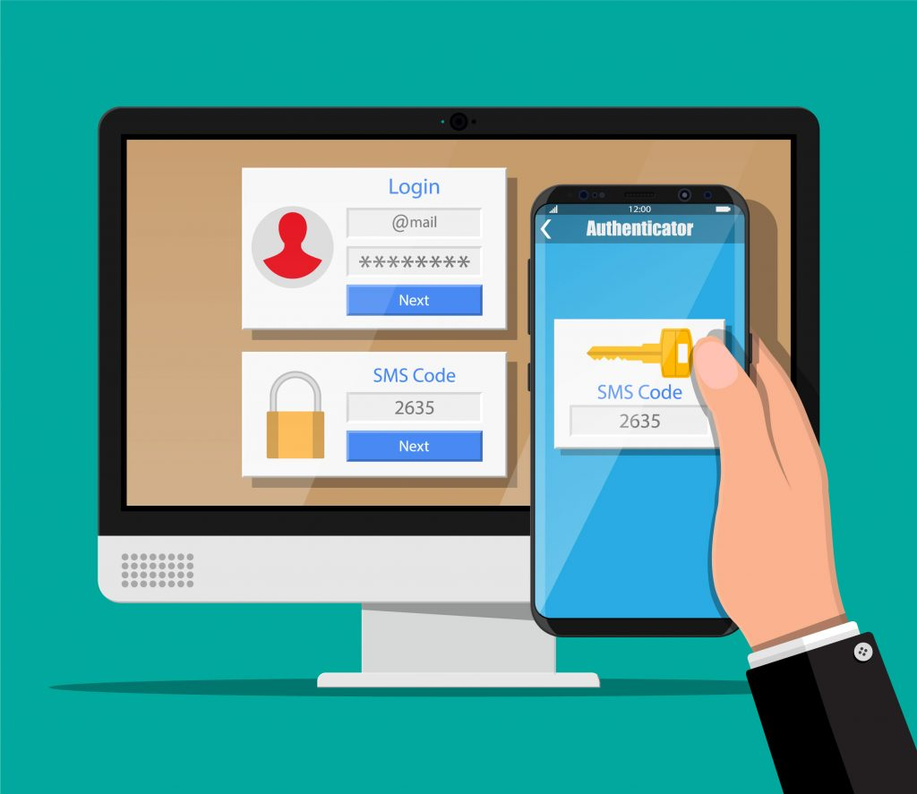 two factor authentication from mobile to desktop to check website safety