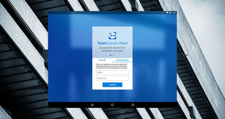 TeamViewer host login