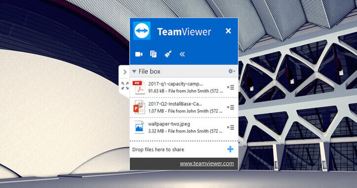 TeamViewer file transfer box