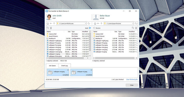 Transfer Sensitive Data with TeamViewer's robust File Sharing