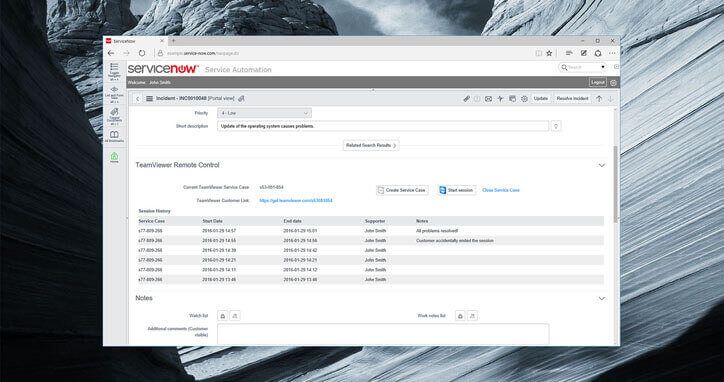 integrate servicenow