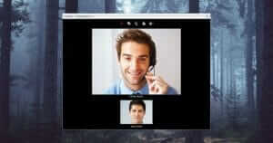 Display of an audio and video call