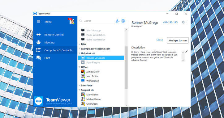 Use the TeamViewer Service Queue to Resolve Customer Requests