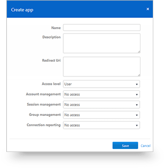 Create a new app that can be used with any TeamViewer account using the methods of OAuth 2.0 | Screenshot